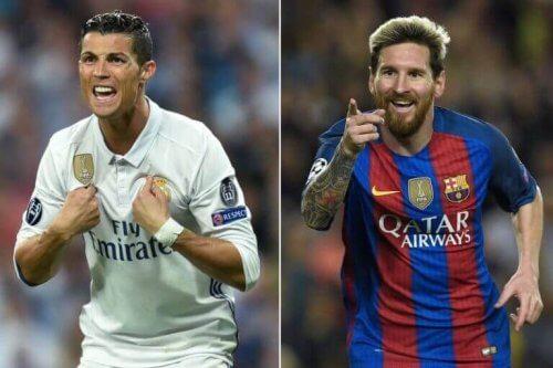 Rivaliseringer i idrett: Ronaldo og Messi.