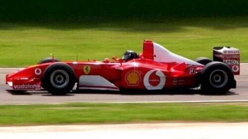 Ferrari F2002, en av de beste bilene i historien til Formel 1 gjennom tidene.