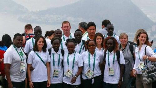Flyktningutøverne som deltok på flyktninglaget i OL i Rio 2016