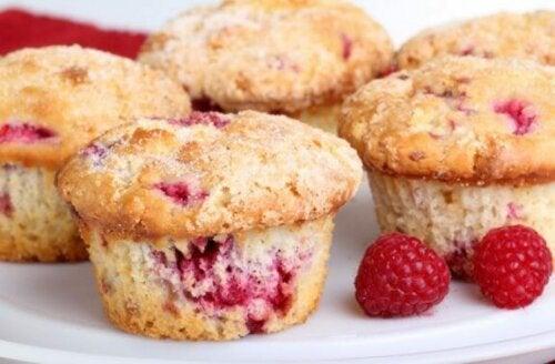 Muffins med røde bær