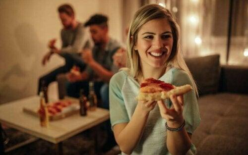 Sunn pizza, en perfekt måte å gi deg selv en godbit på