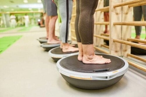 Balansetrening kan hjelpe gjenoppretting av skader.