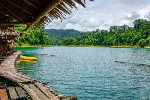 Svømme i åpent vann i Thailand.