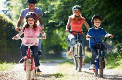 Å trene sammen som en familie forsterker familiebåndet