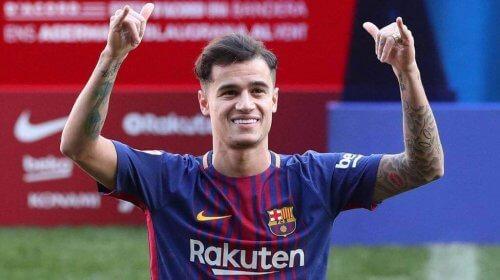 Coutinho spiller for Barcelona.