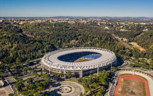 Stadio olimpic i Roma.