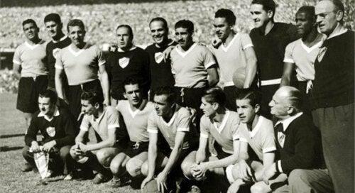 Det uruguayanske laget i Maracanazo.