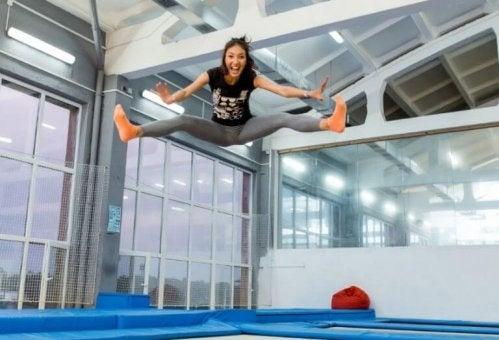 øvelsene med fitness-trampoline har store fordeler