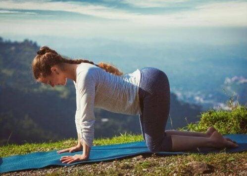 Yoga er flott for ryggen