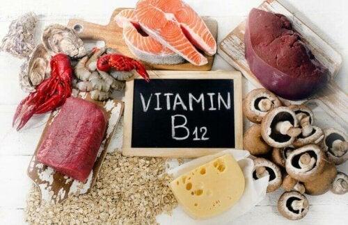 Kilder til vitamin B12.
