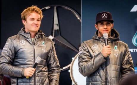 Lewis Hamilton og Nico Rosberg