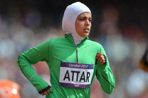 Sarah Attar er en annen bemerkelsesverdig kvinnelig muslimsk friidrettsutøver