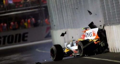 De mest surrealistiske ulykkene i Formel 1