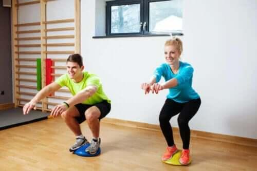 Proprioseptive øvelser for å unngå skader ved trening