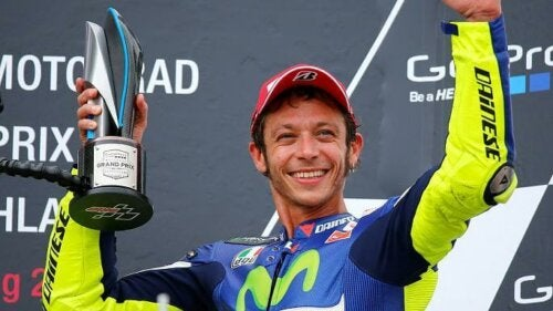Overtro hos racerførerne: Valentino Rossi.