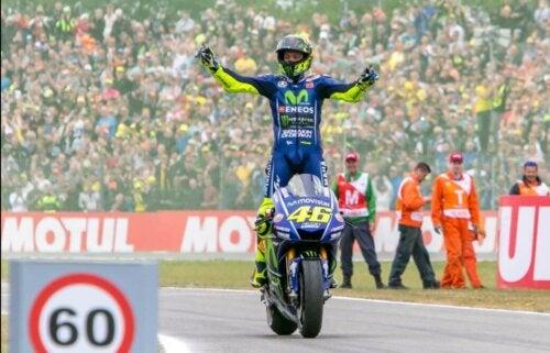 Rossi på banen.