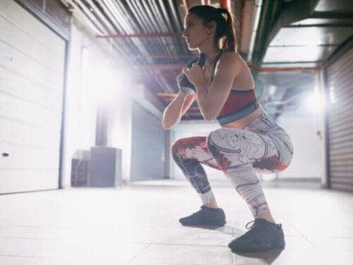 Musklene du vil trene med goblet-knebøy
