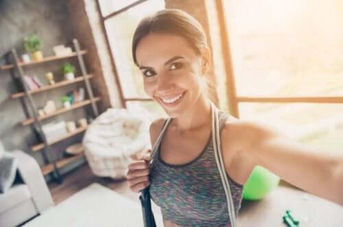 Regelmessig fysisk aktivitet er også bra for sinnet.