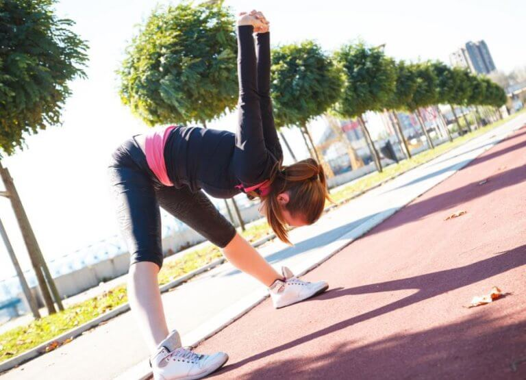 Stretchen na het hardlopen