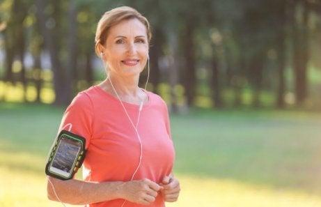 Muziek luisteren tijdens een training