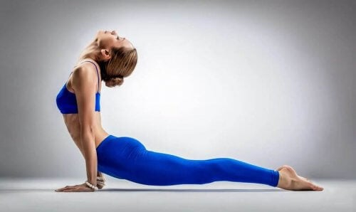 de omhoogkijkende hond yoga