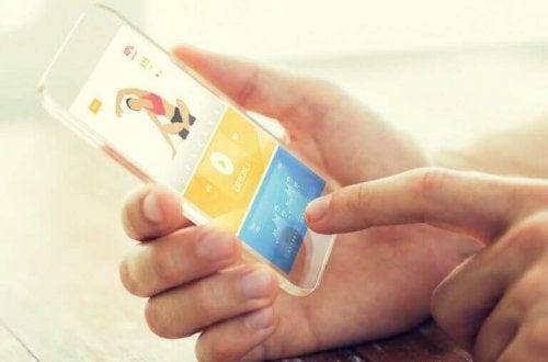 mobiele app met oefeningen