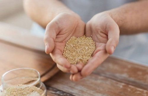 Eet quinoa om af te vallen