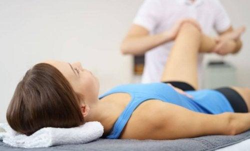 Herstel van een blessure met therapie