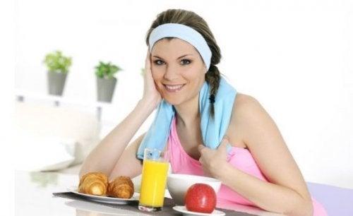 Ontbijt van een atleet, we geven enkele ideeën