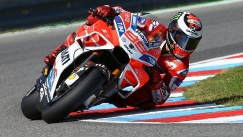 Spaanse MotoGP-coureur Jorge Lorenzo.