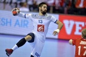 Handballer in actie
