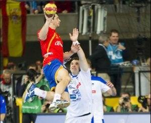 Sprongschot bij handbal