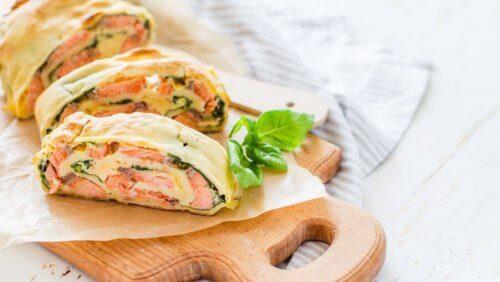 Snelle en eenvoudige recepten een kalkoen- en groentestrudel