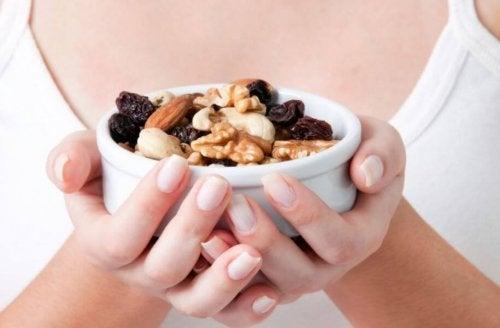 Alleen ongezouten noten zijn geschikt voor een fitnessdieet