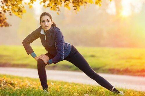 Rekoefeningen voor en na een training
