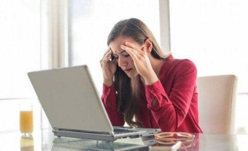 Migraine is een hevige hoofdpijn