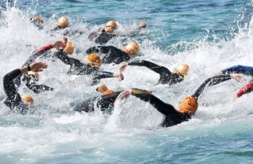 Zwemmen tijdens triatlon