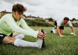 Rekoefeningen bij voetbal