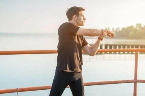 Stretchen voor en na het trainen