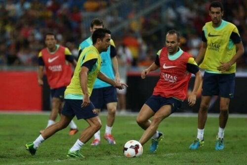 FC Barcelona in training