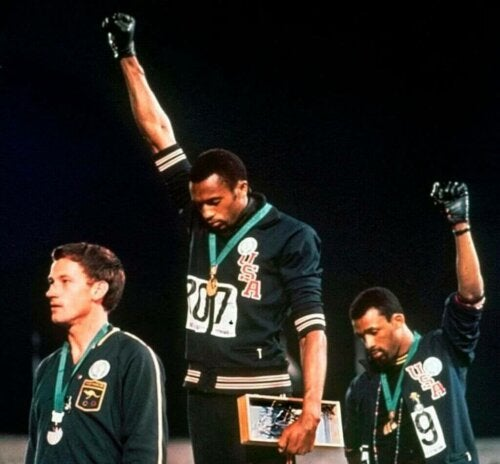 De black power salute van de 1968 Olympische Spelen