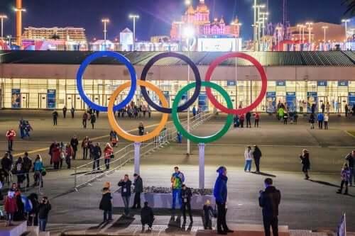 Het symbool van de Olympische Spelen