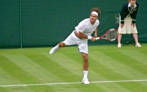 Roger Federer speelt goed op gras