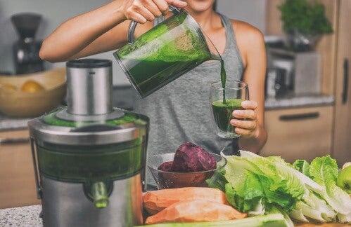 posiłek potreningowy - zielony koktajl