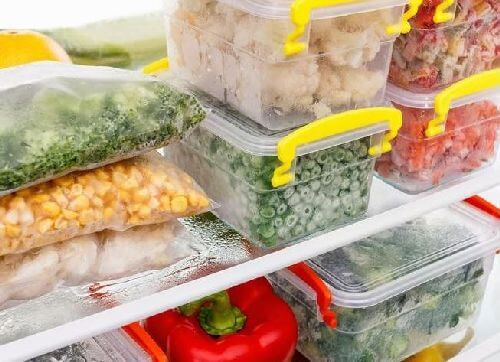 Mrożone produkty lekkie i niskokaloryczne posiłki