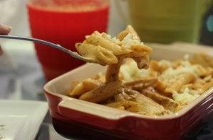 posiłek przedtreningowy - makaron