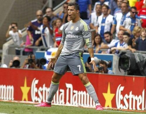 Cristiano Ronaldo po strzeleniu gola