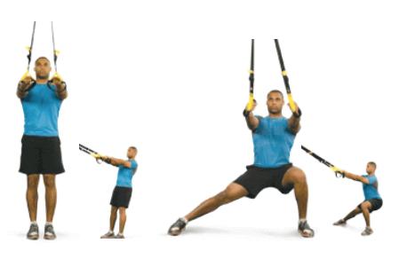 Przysiad boczny TRX - ćwiczenia TRX