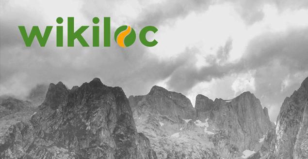 wikiloc - główny ekran aplikacji