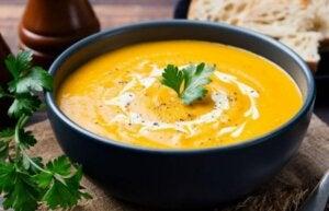 zdrowe przystawki zupa z dyni